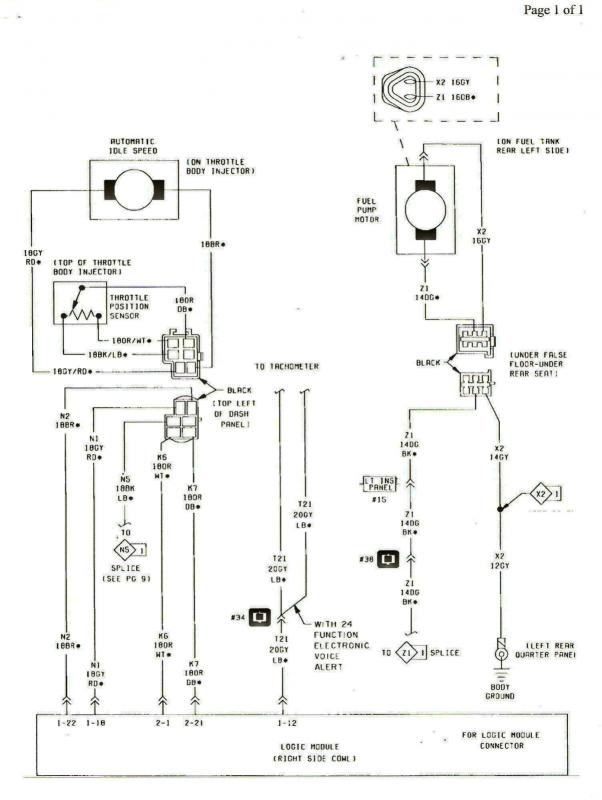 1985 Turbo Engine Electrical And Fuel Injection Wiring