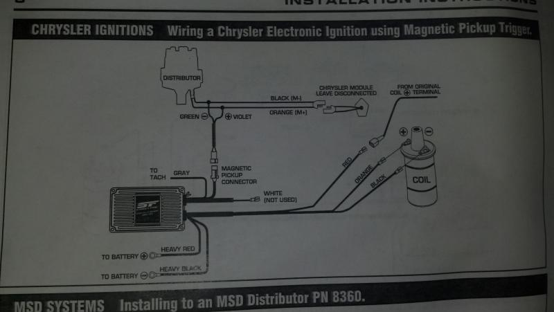 Distributor Wiring Diagram On 360 Engine Diagram Dodge Ignition