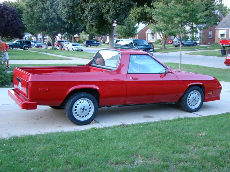 1984 Dodge Rampage 1500 Turbo Dodge Forums Turbo