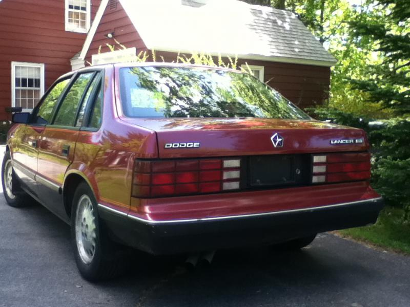 1986 Dodge Lancer Es Turbo 3200 Turbo Dodge Forums