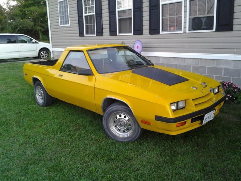 1984 Dodge rampage - $2500 obo or trade - Turbo Dodge Forums : Turbo ...