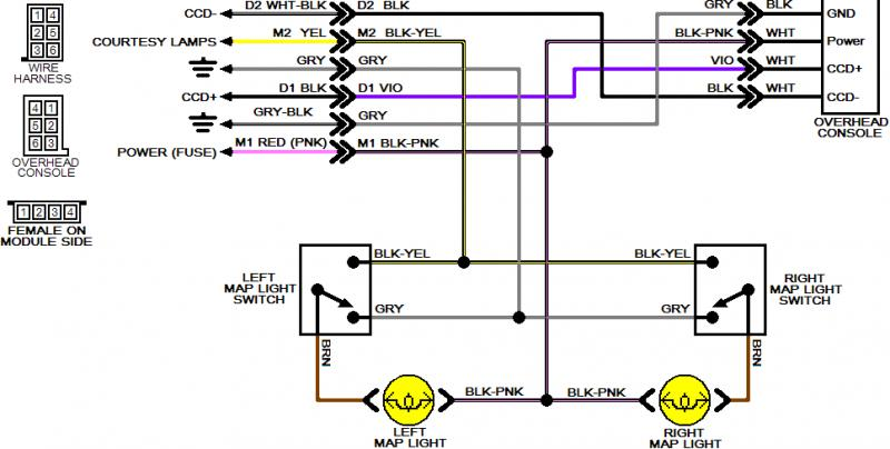 dodge dakota overhead console wiring diagram over head console diagrams needed turbo dodge forums  over head console diagrams needed
