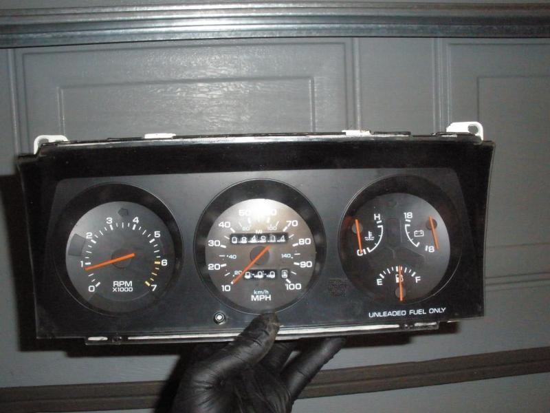 Usa 1990 Dodge Omni 100mph Instrument Cluster