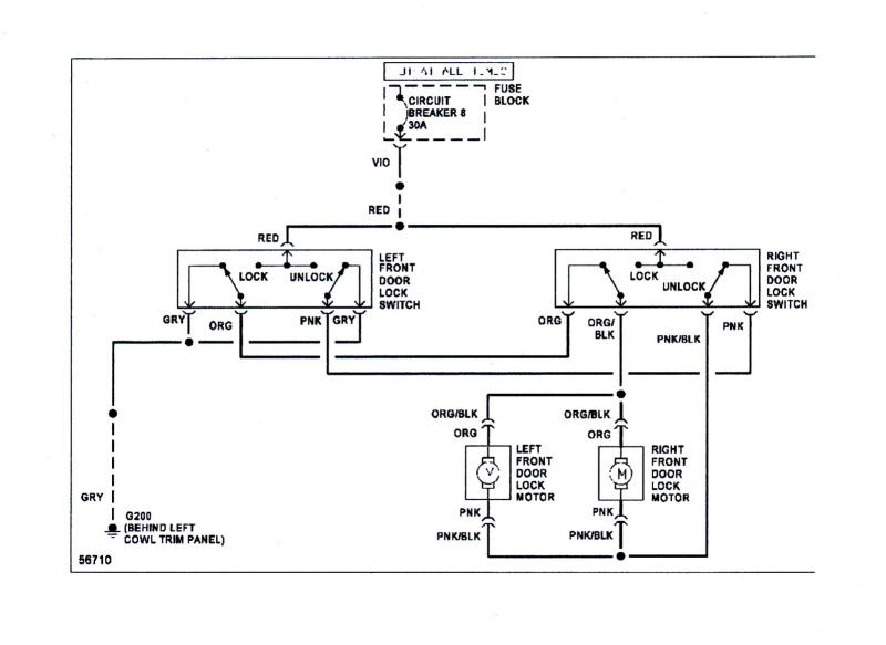 electrical 84  85  86  87 power door lock wiring