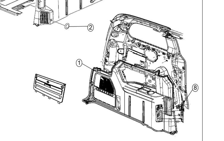 Part For Rear Interior Left Side Panel Of 2014 Dodge