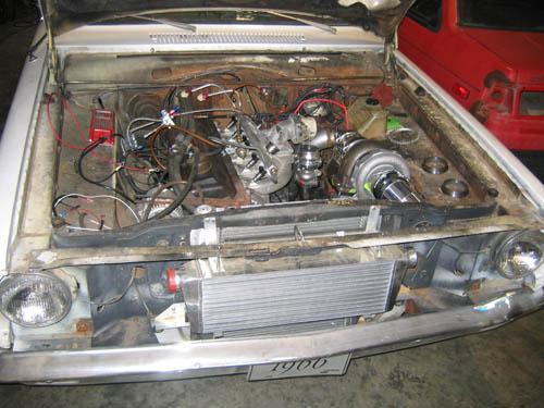 27660D1223992131 Turbo Slant Six Dart Buildup Underhood