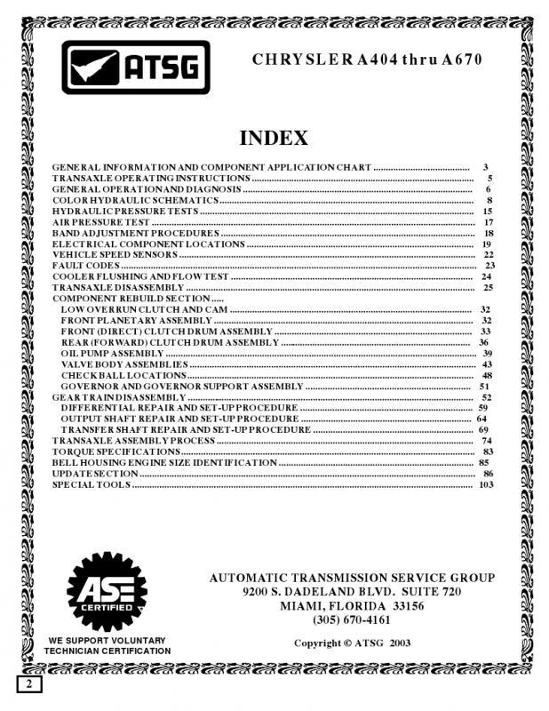 a670 transmission pdf